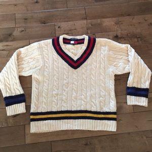 Tommy Hilfiger Sweater Mens XL Green Pullover Crewneck Vintage